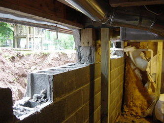 ANOTHER QUALITY BASEMENT WALL REPLACEMENT & Basement Wall Replace - CARY MASONRY 919-704-5318 | RALEIGH NC